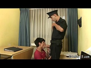 Oral interrogation for unruly Twink fox
