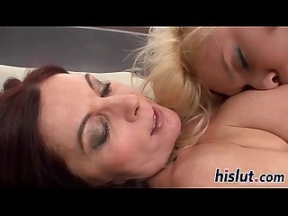 Naughty starlets pleasure their juicy pussies