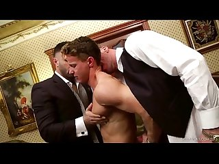 Muscle threesome in suits