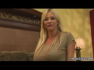 Mature blonde milf gets hard anal fuck