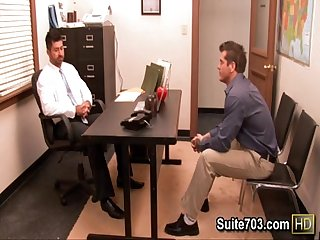 Hot gays berke and parker fuck in the office only on suite703