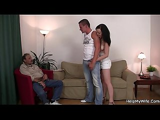 Brunette wife swap for old man