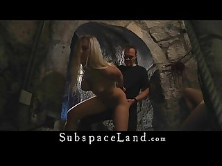 4 beauty slaves hard tormented in a dungeon castle