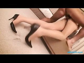 Office lady gangbanged fucked hard by 2 guys in the hotel room