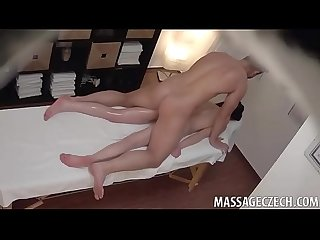 Sexy skinny brunette fucked in the ass by her masseur