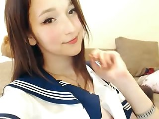 Japanese High School Sailor Cosplay Webcam - http://myxcamgirl.com