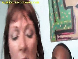 Big Titted MILF Shared By Two Blacks