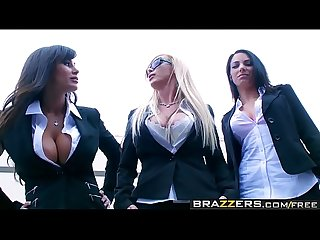 Brazzers pornstars like it big reservoir sluts scene starring Lisa ann Nikki benz Johnny sins