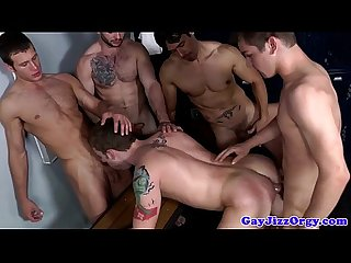 Spitroasted gay amateur shows his deepthroat