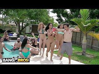 BANGBROS - Fuck Team Five Poolside Orgy With Rose Monroe, Krissy Lynn, and Valentina..