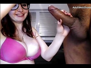 Playful redhead sucks on a black cock adultwebshows period com