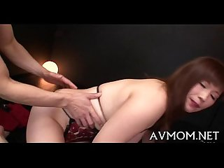 Pretty young mom seduces man