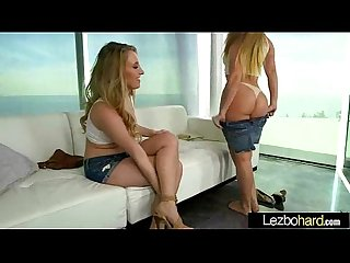 Teen Lesbians (Aj Applegate & Harley Jadehot) In Hot Sex Tape Licking And Kissing movie-03