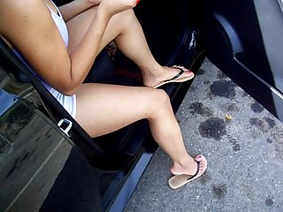 Latina salvadorian sexy legs and shoe dangle dirty talk