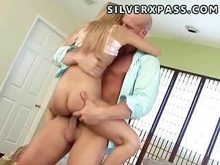 Teen Katie handles a big cock