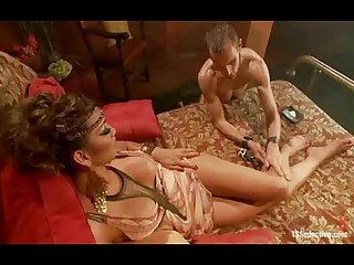Gorgeous tranny fucks her puppy in a role play kinky game