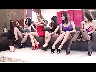 Feet Worship with sadistic glamour girls