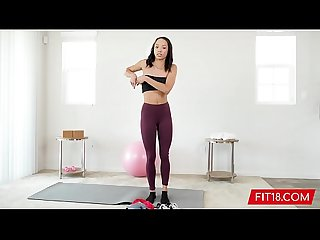 Fit and Skinny Light Skin Black Girl Alexis Tae Casting