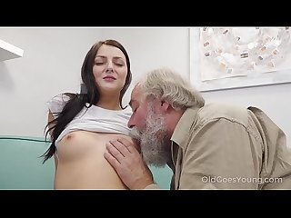 Old goes young talented cutie rides Old dick in cowgirl style