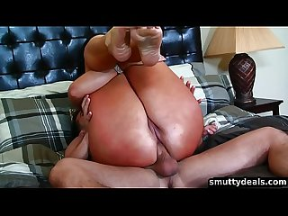 Horny MILF gets an ass creampie