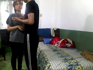 Indian young college lovers fucking in hostel room and record wowmoyback