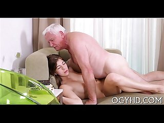 Old lover bonks young pussy