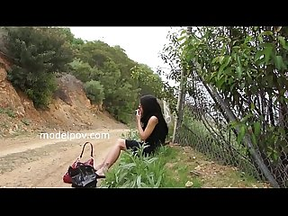 Lilly anderson outdoor shoot fucking sucking cum swallow next to freeway in los angeles