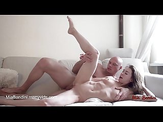 Amateur Couple having passionate Sex and Cumshot on abs 4k