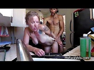 Fucking a nasty milf