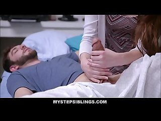 Hot Young Step Sister Nina Skye Fucks Sick Step Brother To Make Him Feel Better