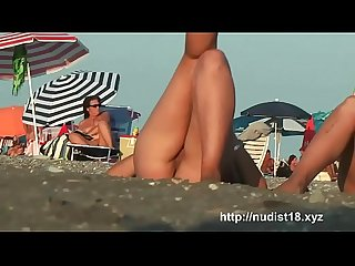 Nude beach voyeur shoots hotties with a hidden cam
