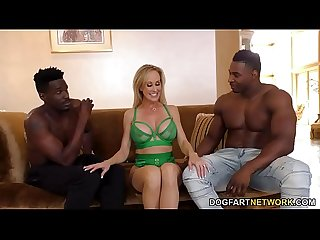 Brandi Love Works On Two Big Black Cocks - Cuckold Sessions