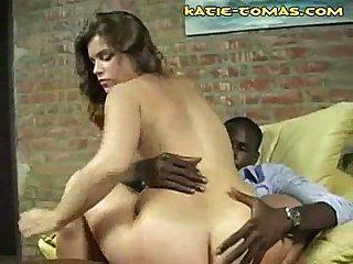 Katie rides black cock