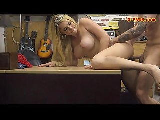 Huge boobs blonde fucked by pawn dude