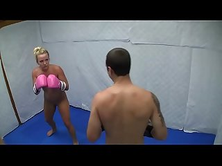Dre Hazel defeats guy in competitive nude boxing match