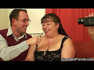 Fat granny and boys teen threesome