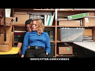 Shoplyfter Hot milf dominates young thief for stealing