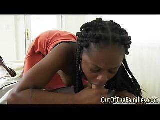 Ebony teen stepdaughter gets nailed