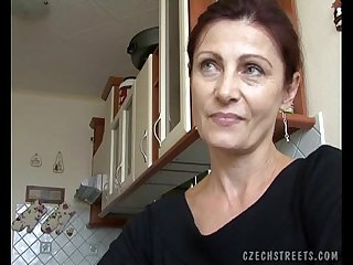 Czech milf gets paid for public sex