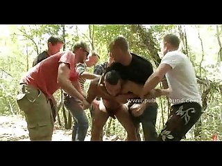 Sado maso gay sex slave in fetish rough gang bang sex video