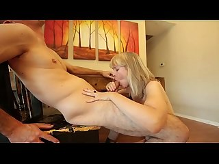 Mature plays penis