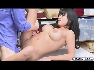 Young babe with big tits is so yummy as the LP Officer takes care of her tight pussy with his..