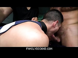 Troubled twink step son tied up and fucked by step dad and counselor gets scared straight