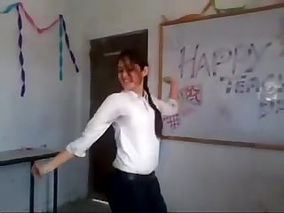 Indian girl dance in college
