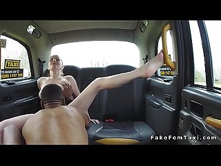 Black dude bangs big tits blonde cab driver