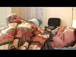 Horny granny seduces him but wife finds out