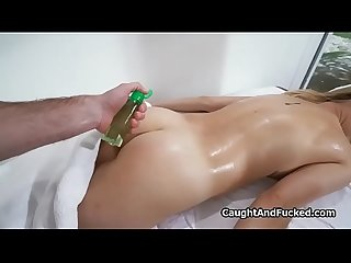 Fucking hot blonde massage client