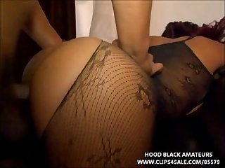 Big booty black ghetto stripper gets fucked in her tight asshole