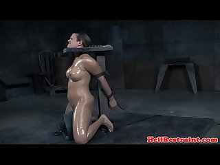Slave being toyed during kinky BDSM