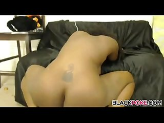 Sexy black chick squirt hard